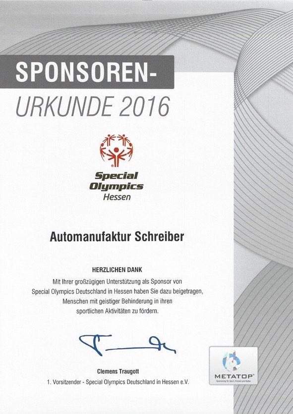 Sponsorenurkunde 2016 Special Olympics Hessen JPEG
